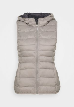 ONLNEWTAHOE QUILTED WAISTCOAT  - Waistcoat - silver