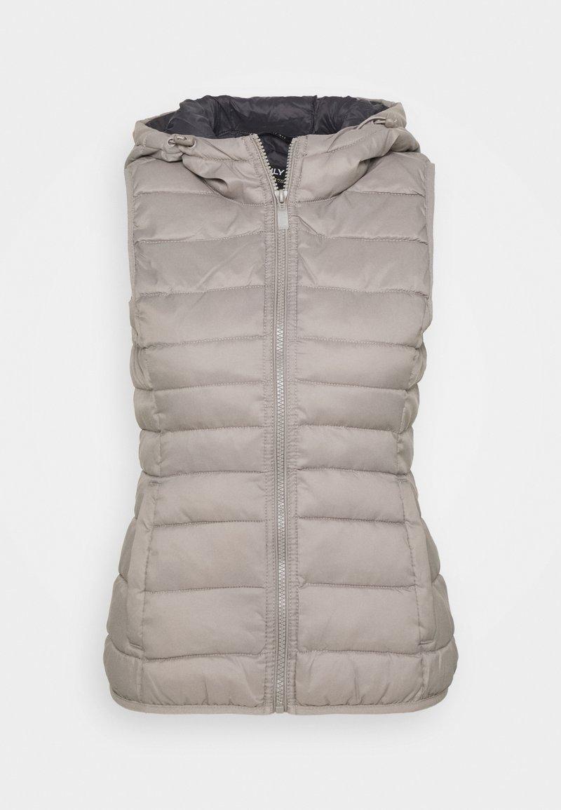 ONLY Petite - ONLNEWTAHOE HOOD WAISTCOAT - Waistcoat - silver