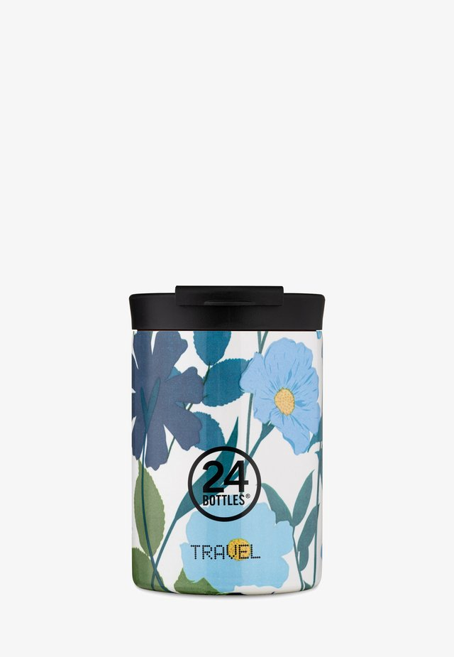 TRINKBECHER TRAVEL TUMBLER FLORAL - Drink bottle - blau