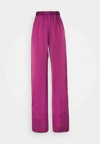 Who What Wear - WIDE LEG TROUSER - Trousers - deep berry - 0