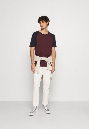 2 PACK - T-shirt - bas - white/dark grey