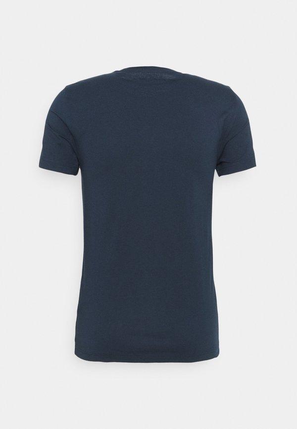 Mustang AARON - T-shirt z nadrukiem - dark sapphire/niebieski Odzież Męska EZZX