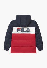 Fila - BROOKLYN PUFFER UNISEX - Winter jacket - black iris/true red/bright white - 1