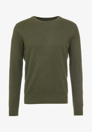 CASH CREW - Jumper - heather olive