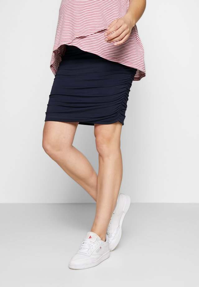 RUCHED FITTED SKIRT - Gonna a tubino - navy