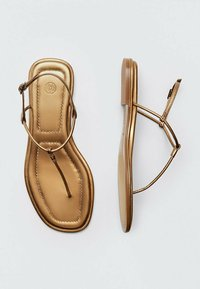 Massimo Dutti - T-bar sandals - gold - 1
