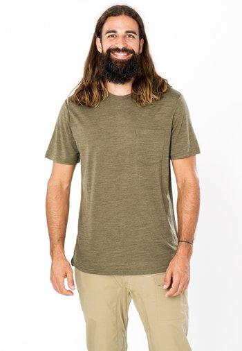 SUPER.NATURAL MERINO T-SHIRT M CITY TEE - Basic T-shirt - olivgrün