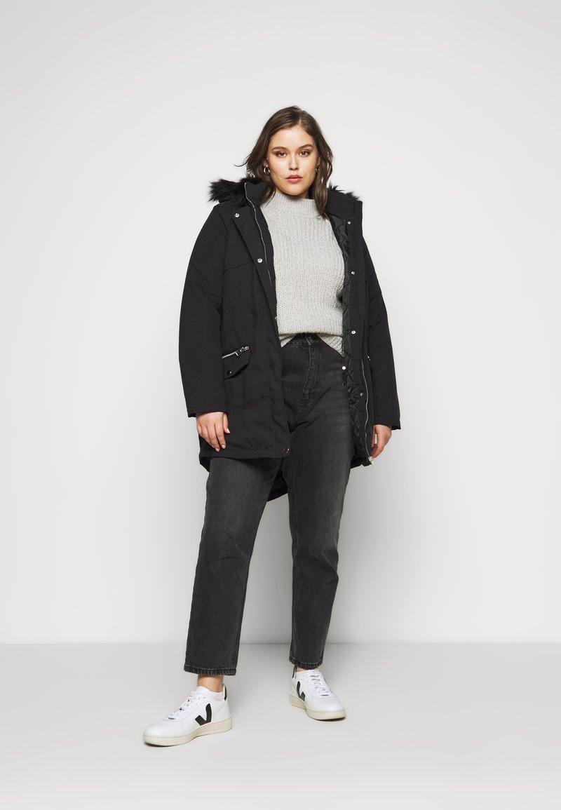 Evans - Winter coat - black