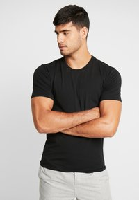 Calvin Klein Underwear - CREW NECK SLIM FIT 2PACK - Camiseta interior - black - 2