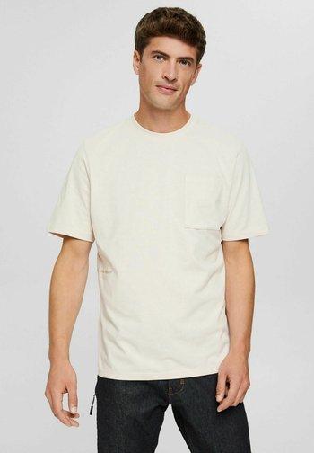 Print T-shirt - cream beige
