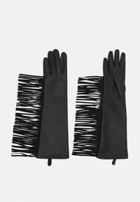 TWINSET - FRINGES GLOVES - Gloves - nero - 0