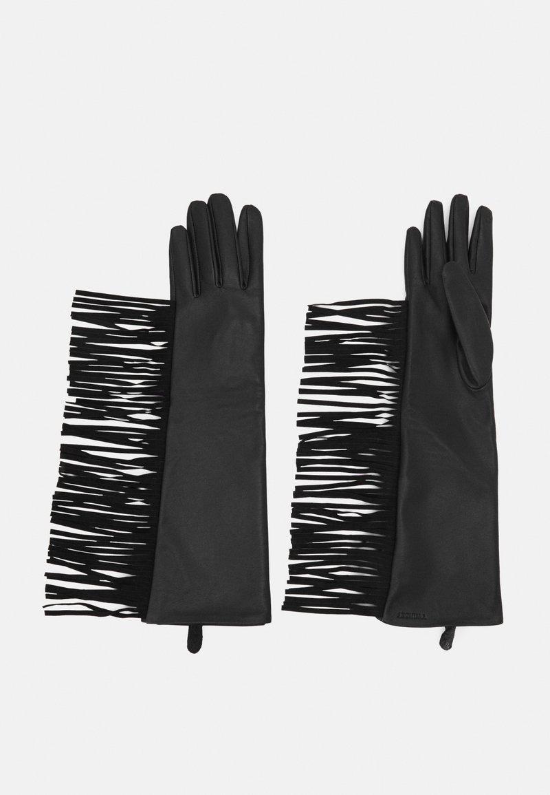 TWINSET - FRINGES GLOVES - Gloves - nero