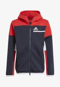 adidas Performance - Z.N.E. FULL-ZIP HOODIE - Zip-up sweatshirt - blue - 0