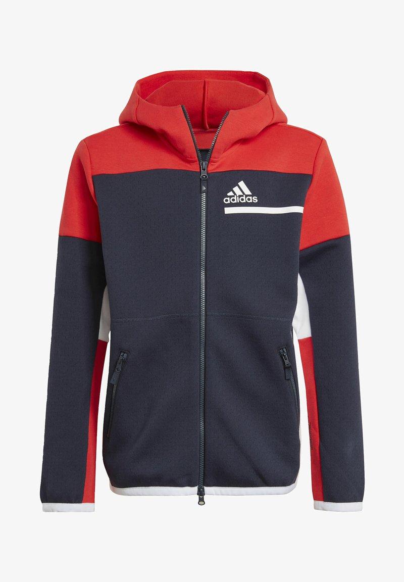 adidas Performance - Z.N.E. FULL-ZIP HOODIE - Zip-up sweatshirt - blue