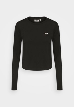 EAVEN CROPPED LONG SLEEVE - T-shirt à manches longues - black