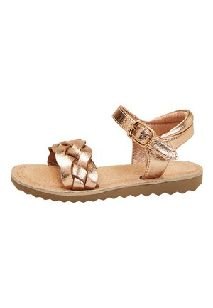 ROSE GOLD BUCKLE TWIST SANDALS (YOUNGER) - Sandály - gold