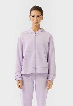 MIT REISSVERSCHLUSS  - Zip-up hoodie - mauve