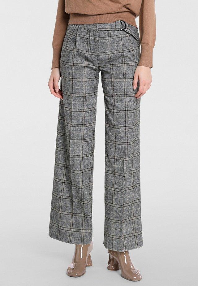 Pantaloni - grau-multicolor