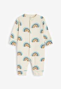 Next - 3 PACK  - Pyjamas - blue/brown/white - 4
