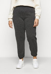 Pieces Curve - PCRELINO PANTS LOUNGE - Tracksuit bottoms - dark grey melange - 0