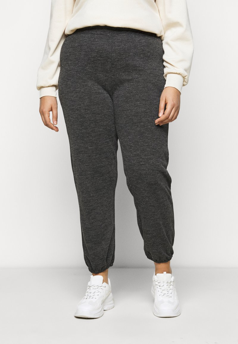 Pieces Curve - PCRELINO PANTS LOUNGE - Tracksuit bottoms - dark grey melange