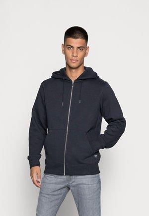 JESOFT BASIC ZIP HOOD - Tröja med dragkedja - navy blazer
