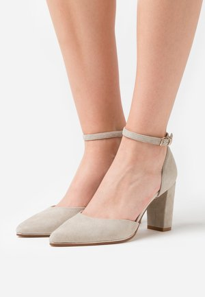 LEATHER - Classic heels - grey