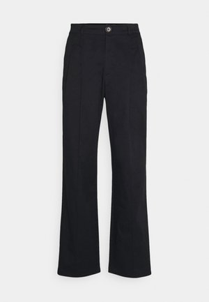 FOUR PLEAT SLOUCHY PANTS - Trousers - black