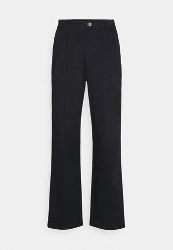 FOUR PLEAT SLOUCHY PANTS - Pantaloni - black