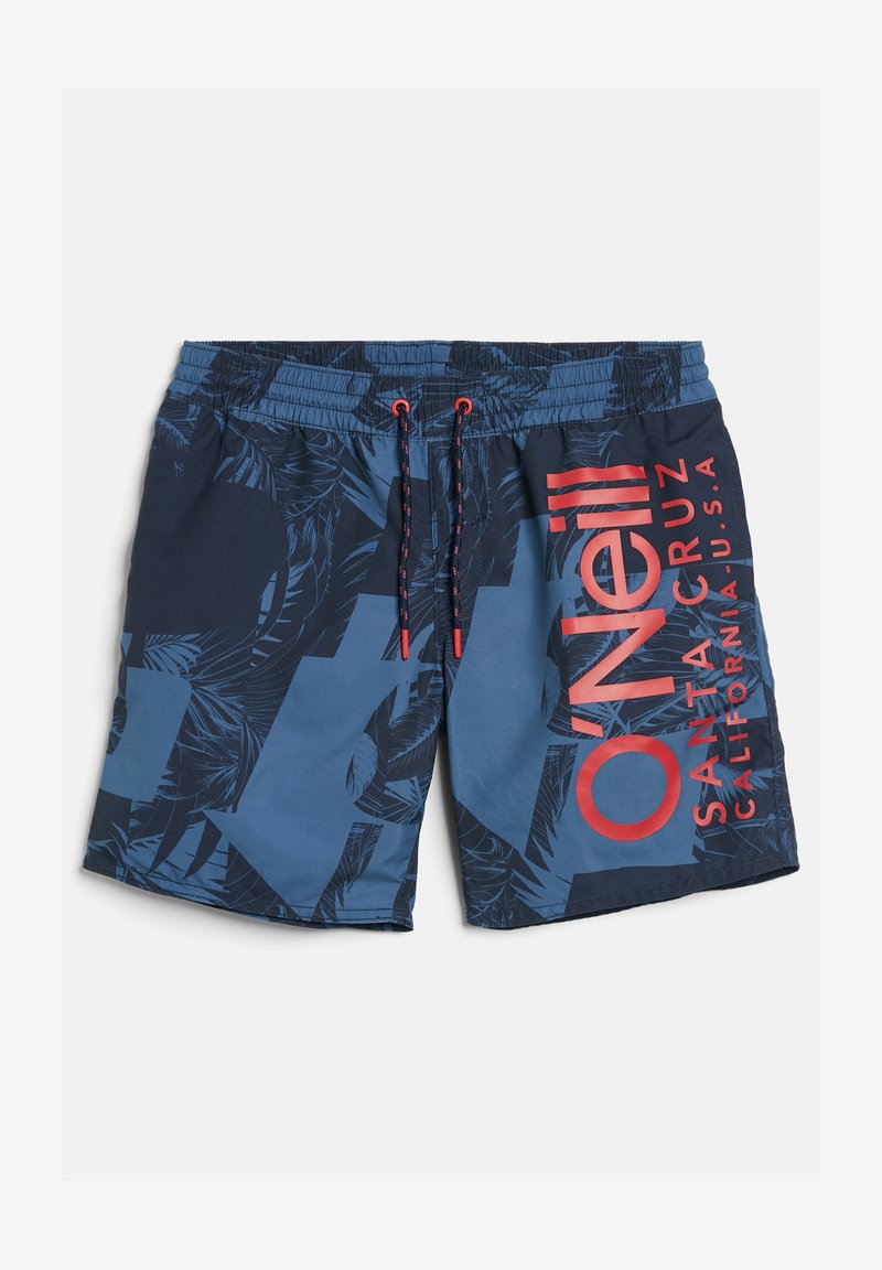 O'Neill - CALI FLORAL - Swimming shorts - blue with blue