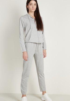 Zip-up hoodie - grigio melange chiar