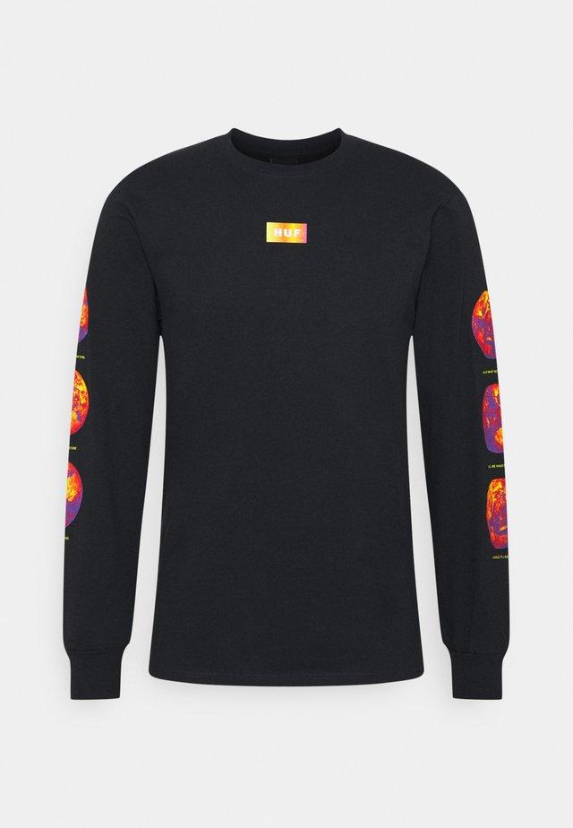 CLIMATE MELTDOWN TEE - Pitkähihainen paita - black
