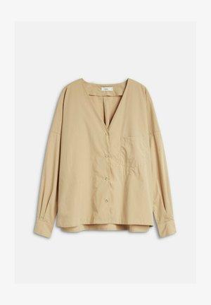 NAIDA - Button-down blouse - beige