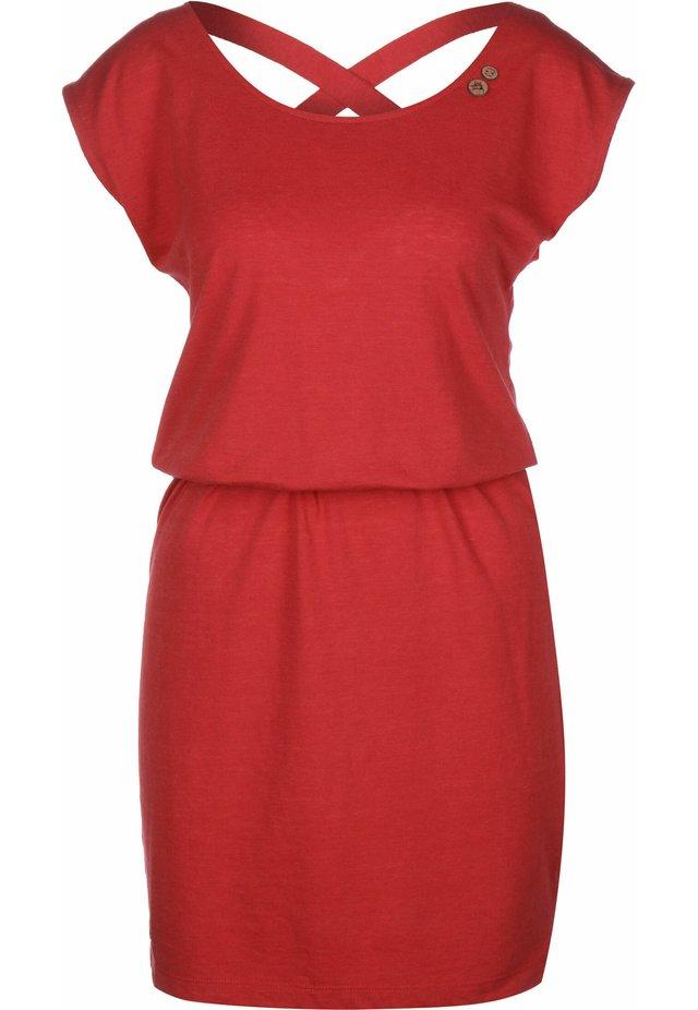 SOFIA W - Jersey dress - red