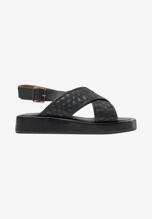STB-ASTRID QUILT - Korkeakorkoiset sandaalit - schwarz