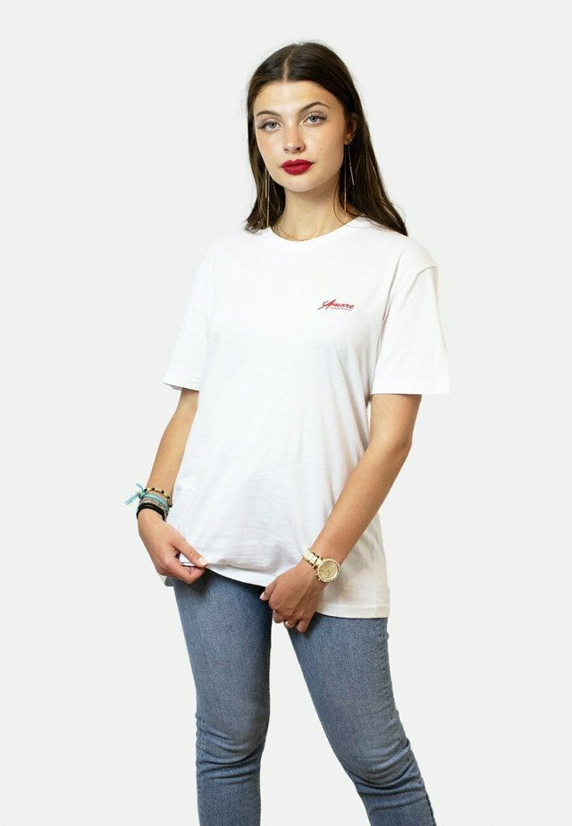 AMORE  - T-shirt basic - white