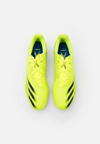 adidas Performance - X GHOSTED.4 FXG - Moulded stud football boots - solar yellow/core black/royal blue - 3