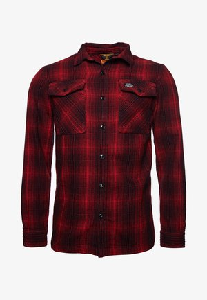 Shirt - red black ombre check