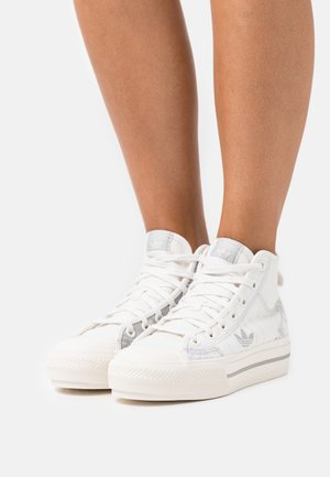 NIZZA PLATFORM MID - Sneakers hoog - cloud white/metal grey/grey one
