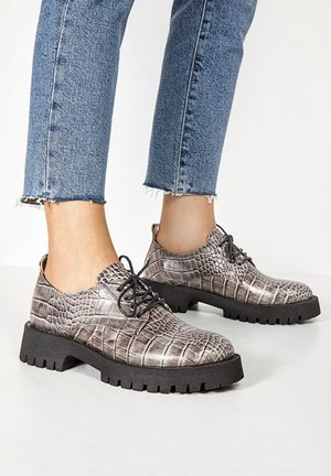 Lace-ups - grey croco gyc