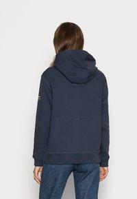 Ecoalf - BASICALF WOMAN HOODIE - Sweater met rits - vintage navy - 2