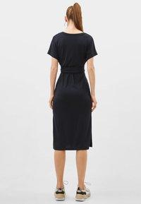 Bershka - MIT SCHLEIFE - Day dress - black - 1