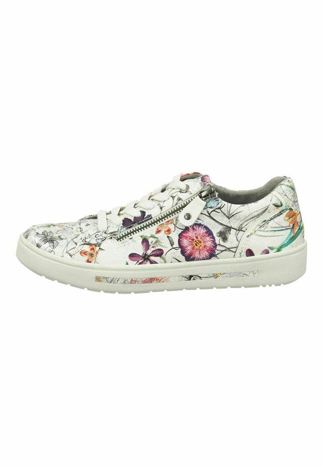 Sneakers laag - white/flower