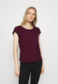 Anna Field - 3 PACK - Basic T-shirt - black/white/dark red - 4