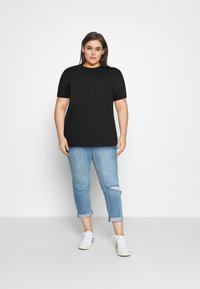 Even&Odd Curvy - Print T-shirt - black - 1