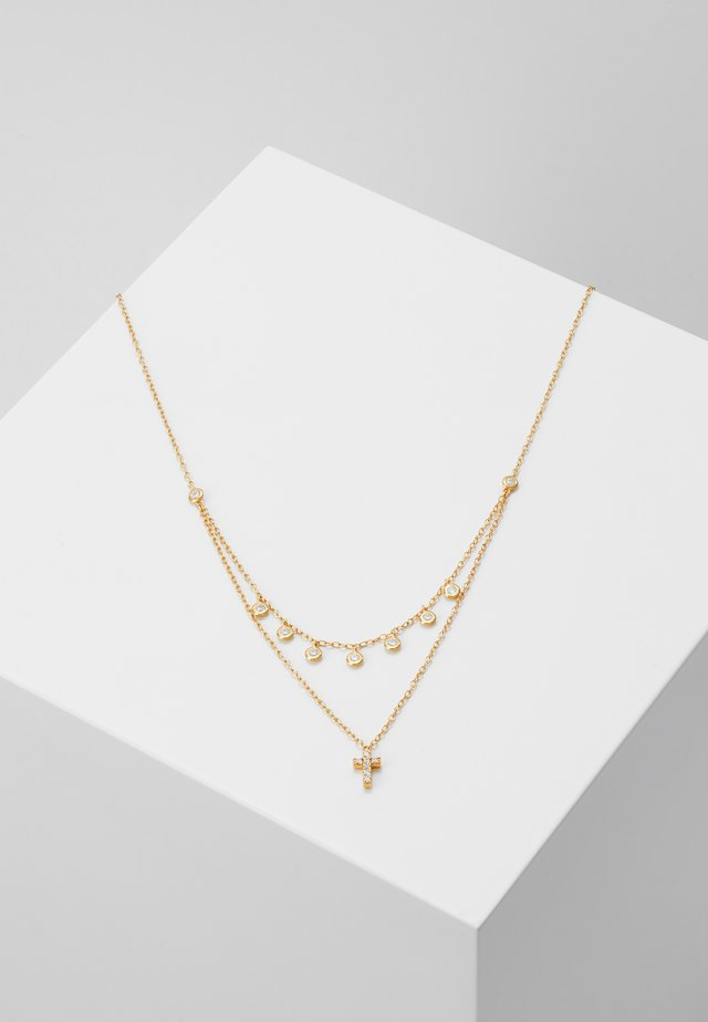 CROSS ROW - Collier - gold-coloured