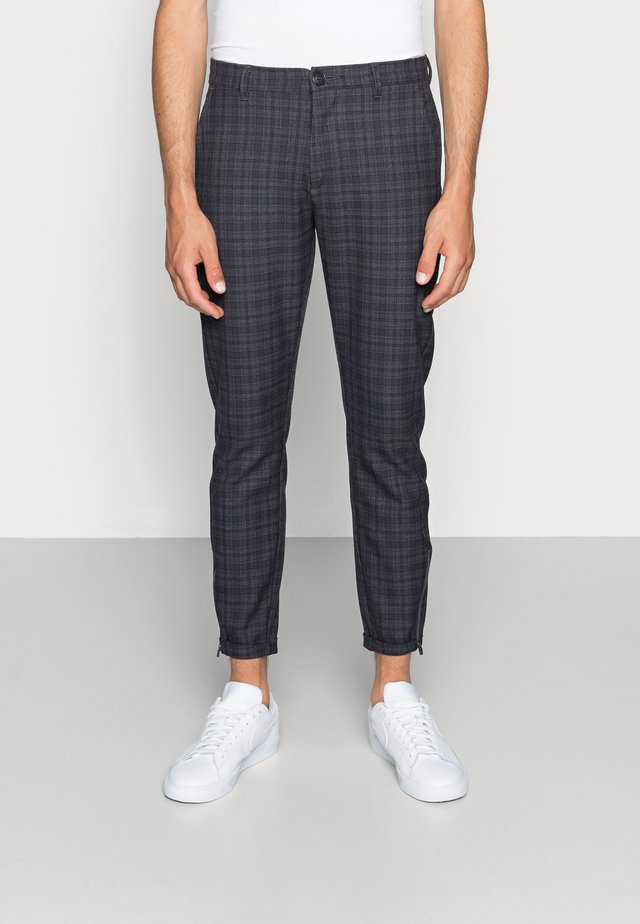 PISA REDUE PANTS - Kalhoty - grey check
