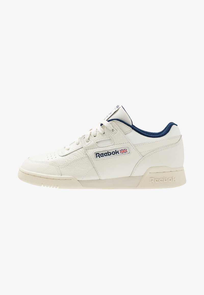 Reebok Classic - WORKOUT PLUS LEATHER UPPER SHOES - Trainers - chalk/paperwhite/navy