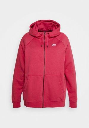PLUS - Zip-up sweatshirt - archaeo pink/white