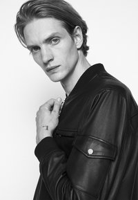 HUGO - LIVIUS - Leather jacket - black - 4